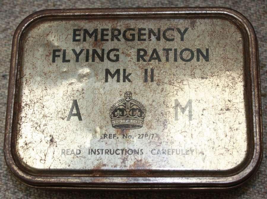 A WWII RAF AM MARKED EMERGENCY RATION TIN