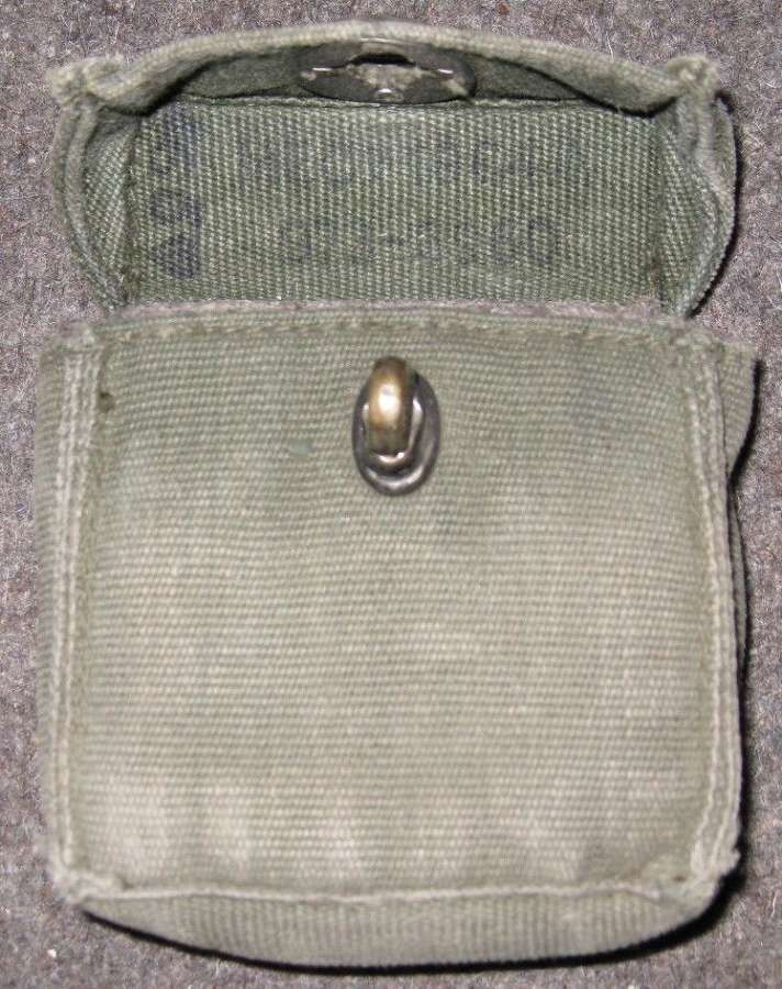 A 1964 DATED 58 PATTERN COMPASS POUCH