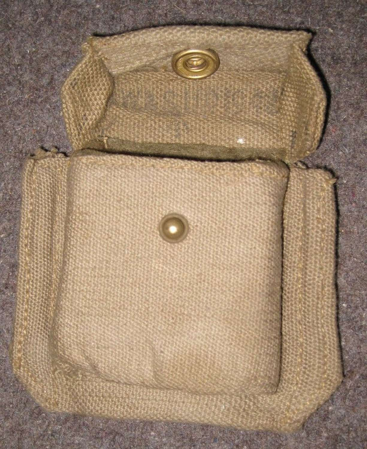 A GOOD CONDITION 37 PATTERN WEBBING COMPASS POUCH