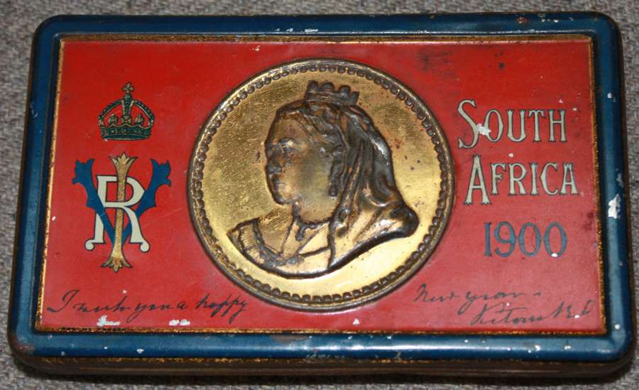 A BOER WAR CHRISTMAS TIN IN GOOD CONDITION
