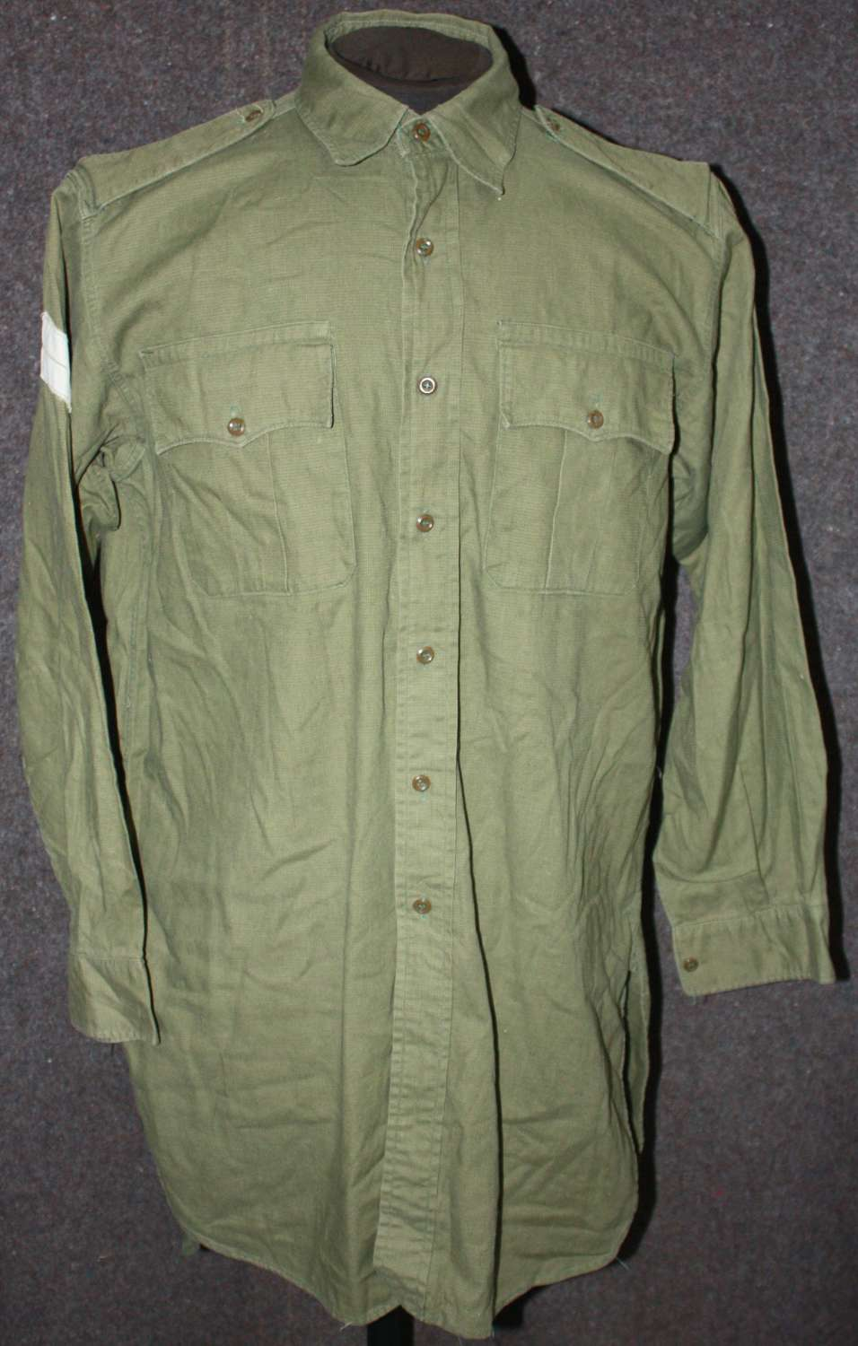 A POST WWII JUNGLE BUSH SHIRT MALAYA PERIOD EXAMPLE