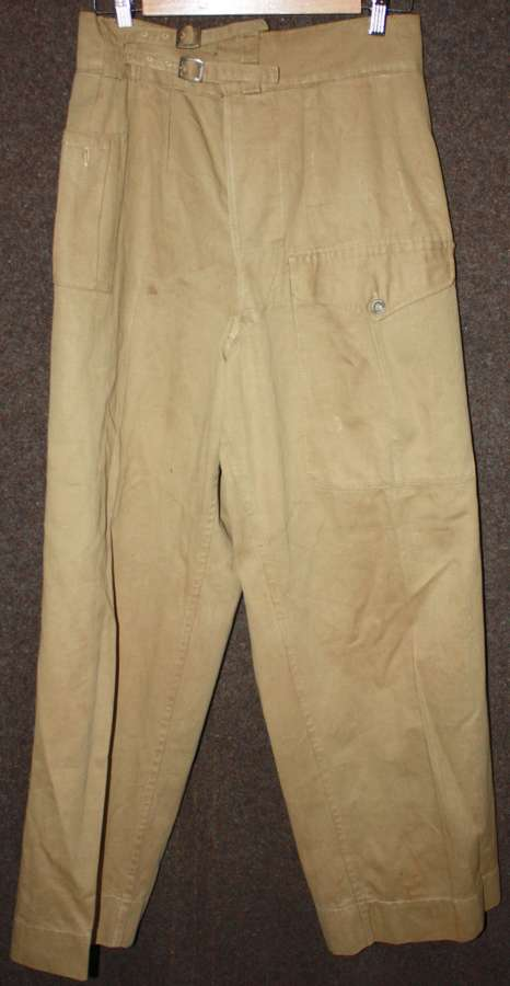 A GOOD PAIR OF THE WWII INDIAN MADE KD BATTLE DRESS TROUSERS