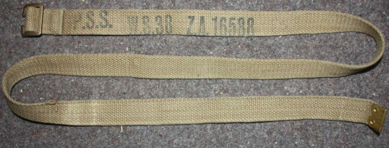 A PAIR OF WWII LONG UTILITY RADIO STRAPS
