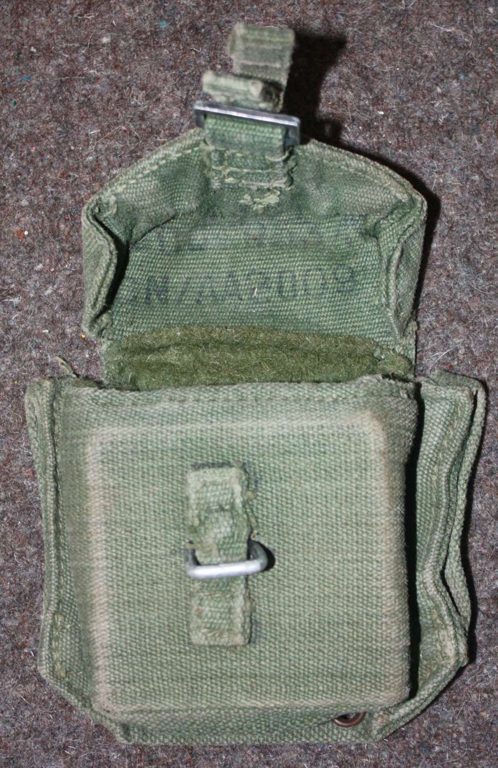 A 1950'S EXAMPLE 44 PATTERN WEBBING COMPASS POUCH