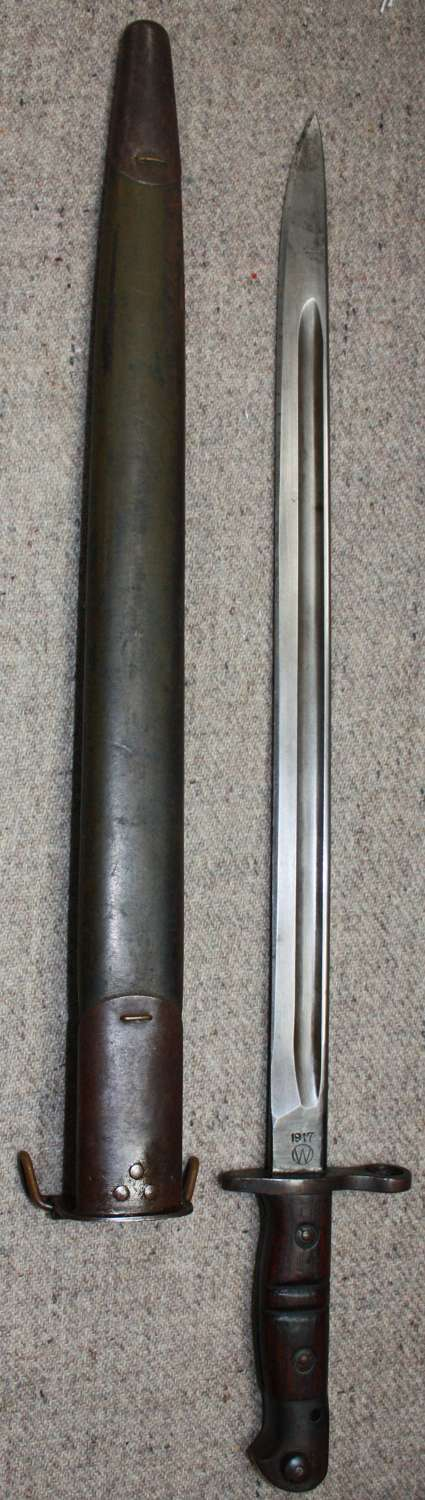 A US 1917 MODEL BAYONET MADE BY WINCHESTER