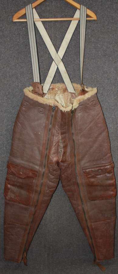 A VERY GOOD CONDITION PAIR OF SIZE 3 1940 DATED IRVIN TROUSERS