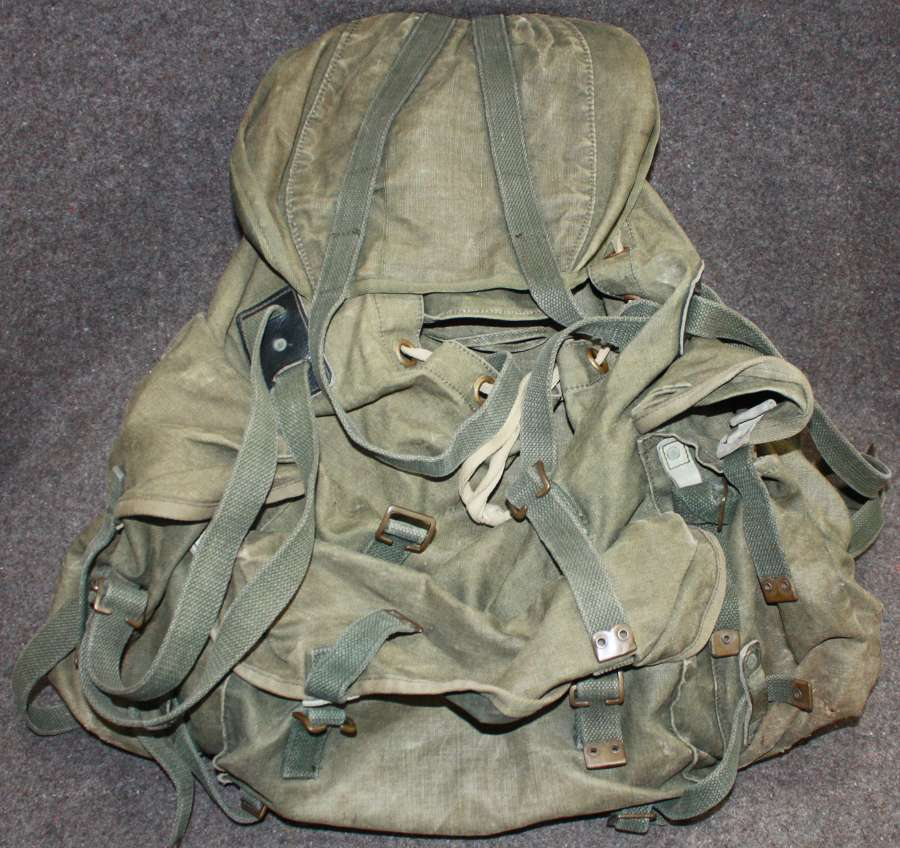A SCARCE 1963 DATED BERGAN RUCKSACK