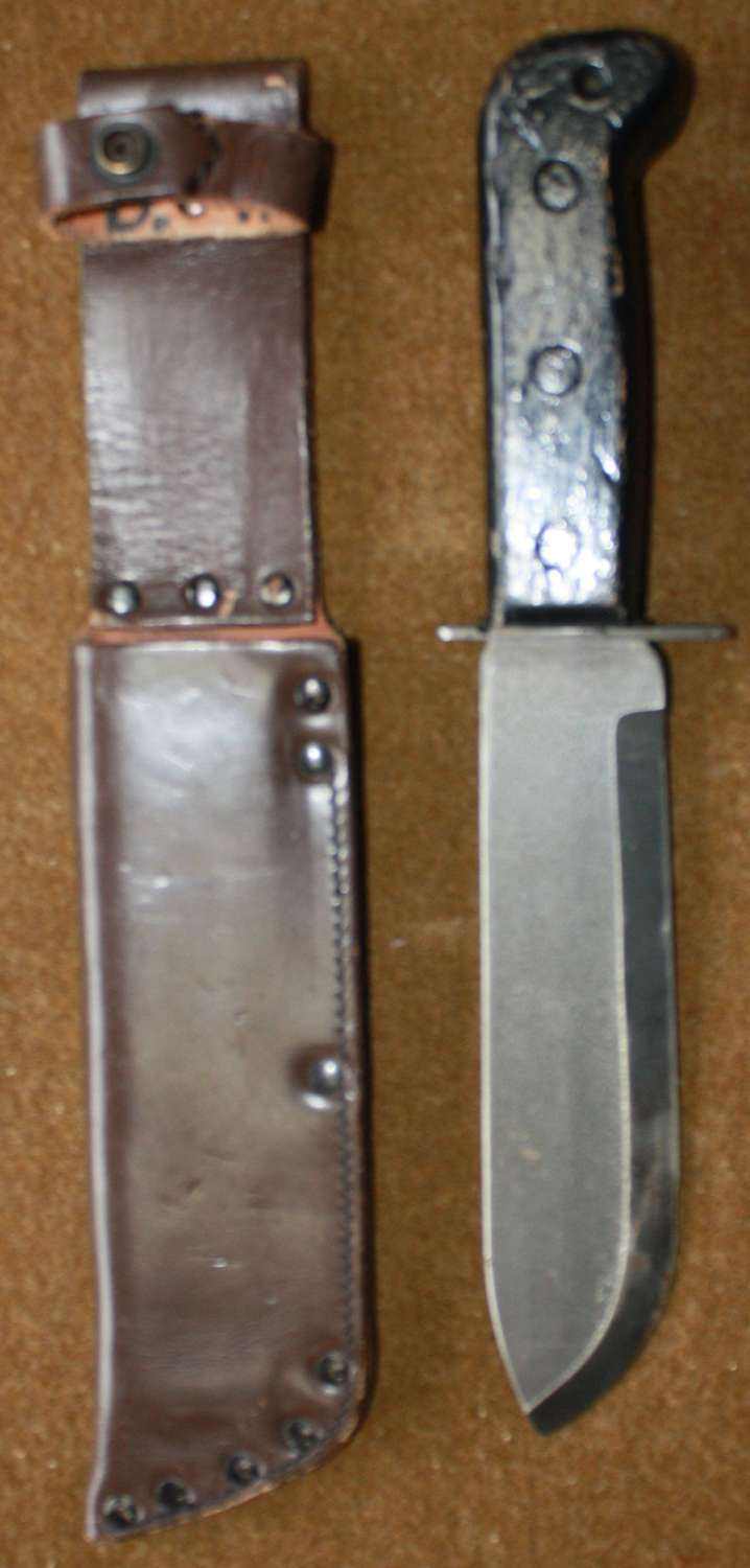 POST WWII BRITISH ISSUE SURVIVAL KNIFE 1980'S EXAMPLE
