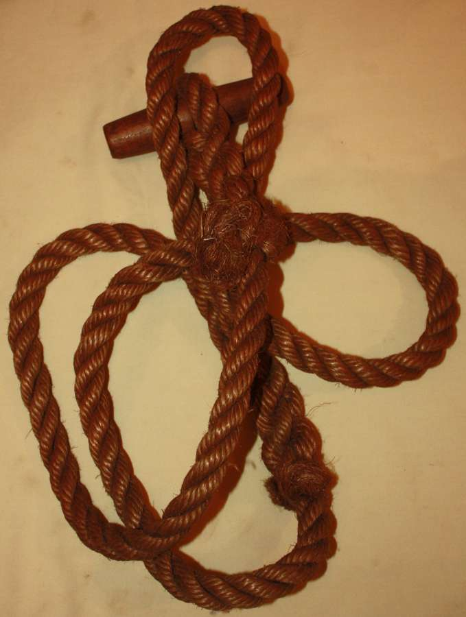 A WWII LARGE SIZE TOGGLE ROPE