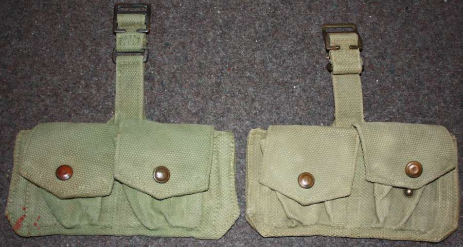 A GOOD MATCHING PAIR OF THE SMALL DOUBLE AMMO POUCHES