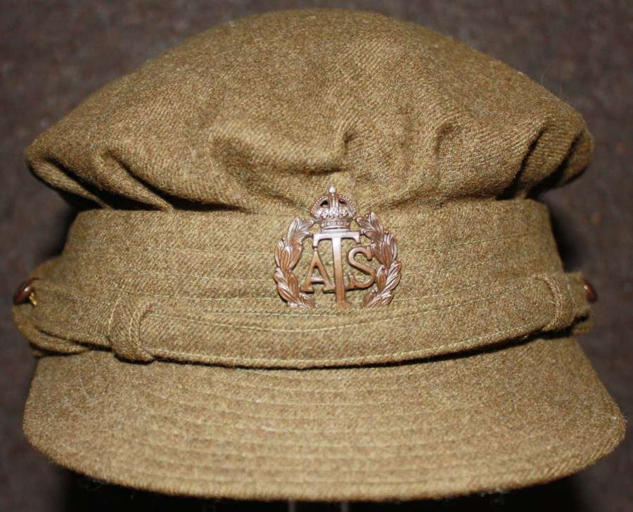 A VERY NICE EARLY WWII NAMED ATS OFFICERS CAP