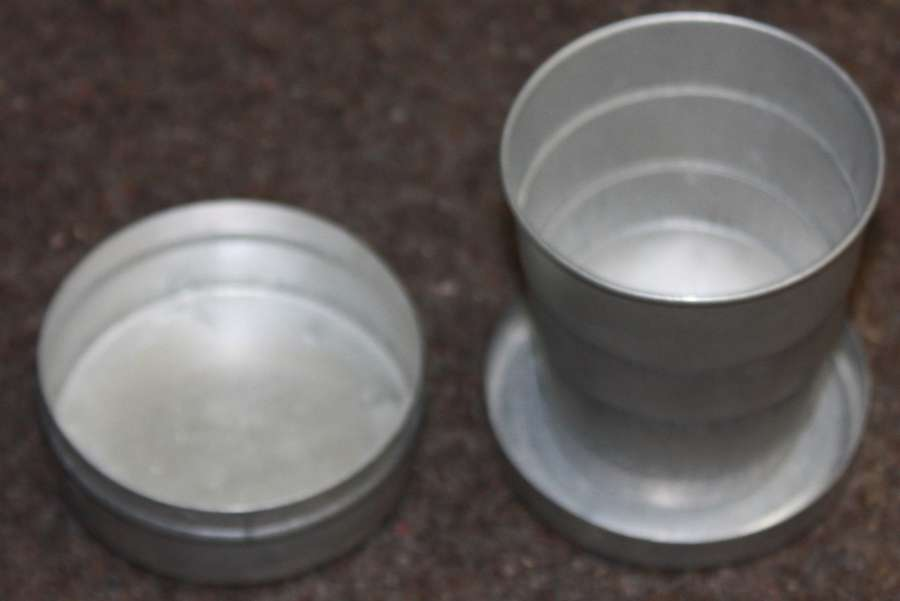 A PRIVATE PURCHASE ALLOY COLLAPSIBLE CUP