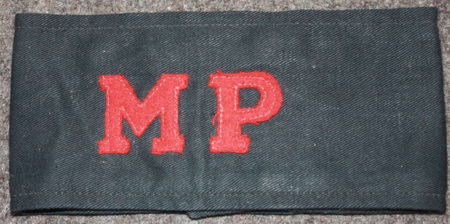 A WWII PERIOD MP'S ARMBAND