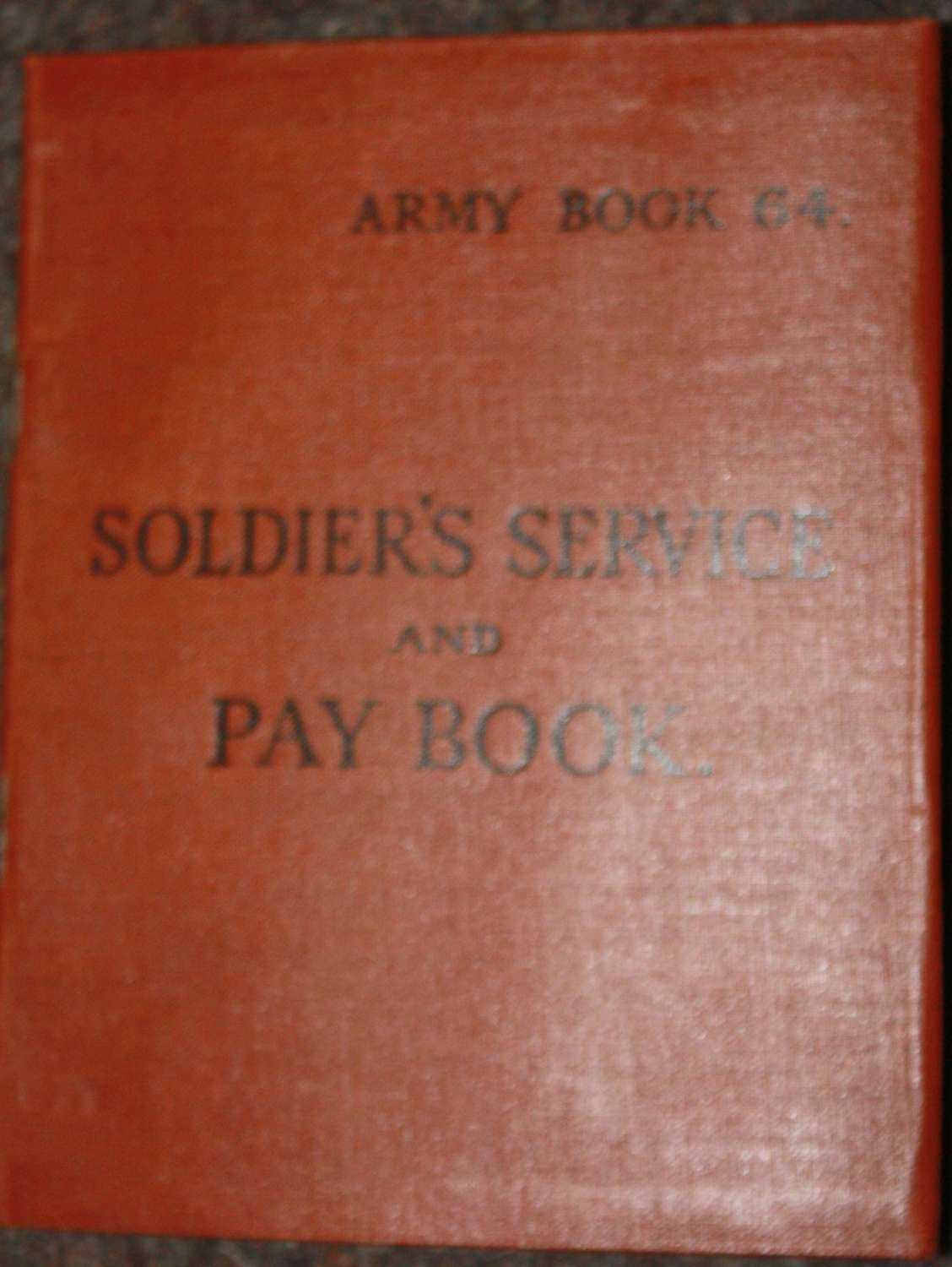 A VERY GOOD ORIGINAL BLANK 1943 DATED BRITISH ARMY PAY BOOK