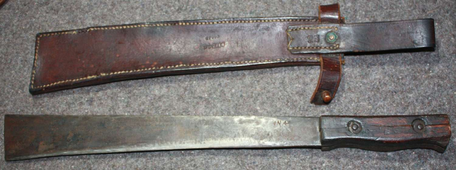 A 1945 DATED CHINDIT MACHETEE