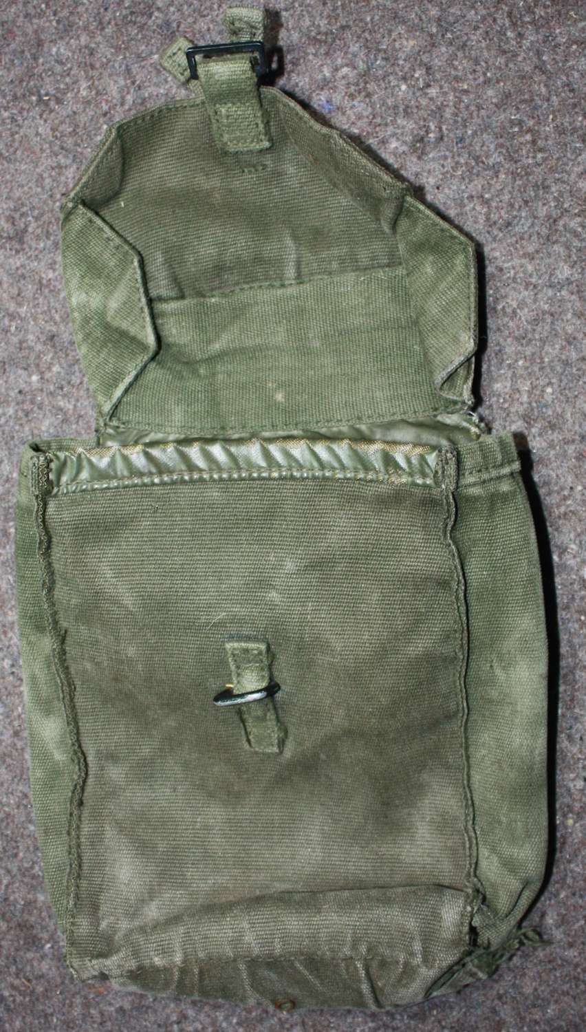 A 1970'S USED SAS ESCAPE AND EVASION POUCH