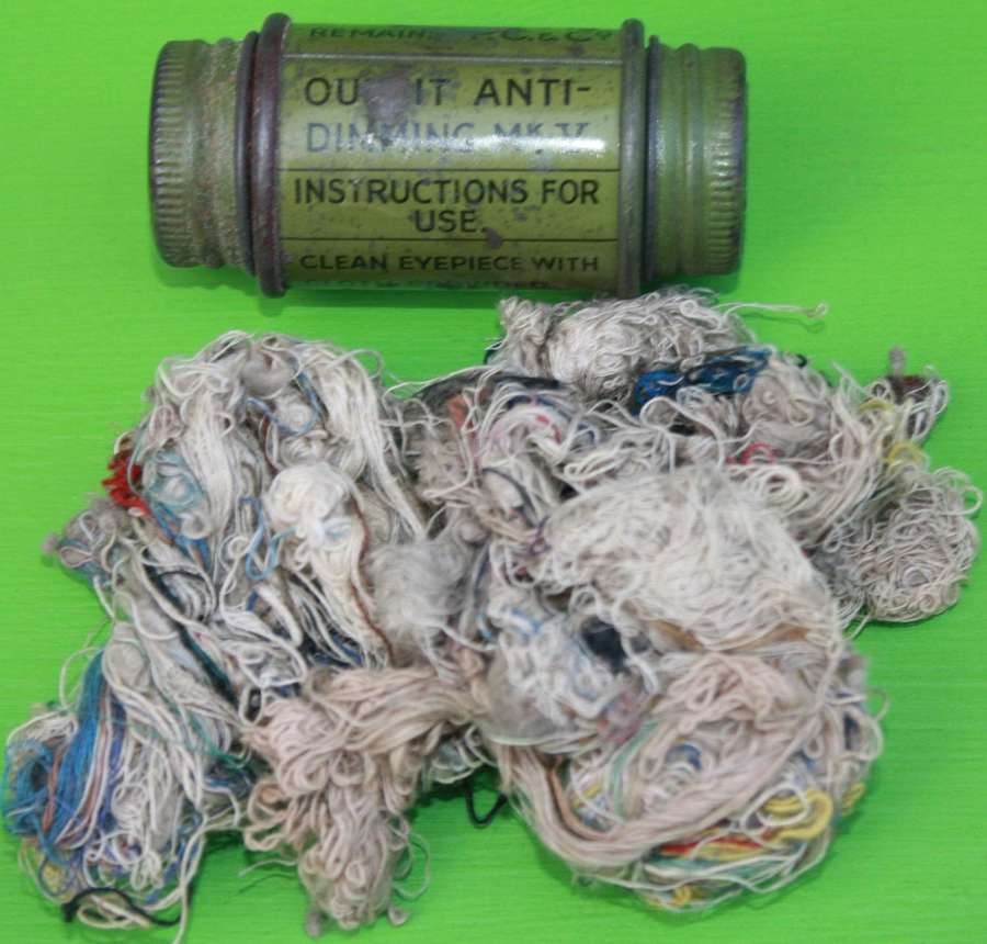 A FEB 1939 DATED BRITISH ANTI DIMMING TUBE AND COTTON WAIST