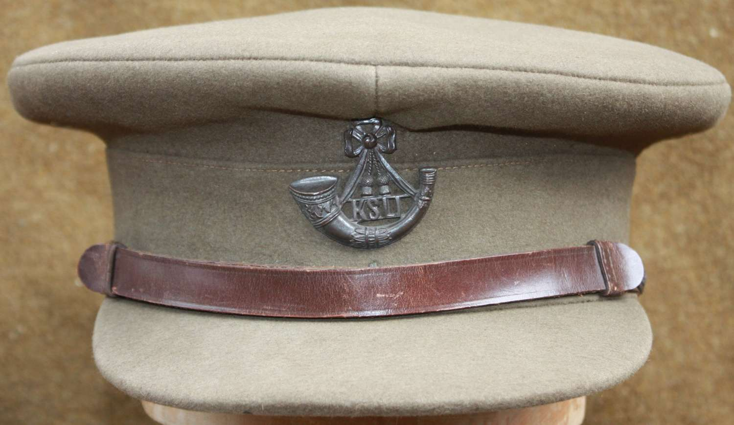 A VERY NICE INTER WAR MID 1930'S KSLI OFFICERS CAP LARGE SIZE