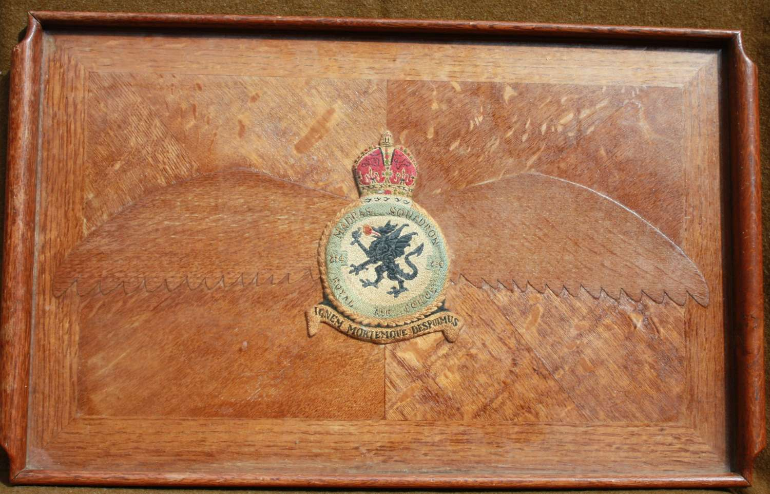A NICE LARGE SIZE RAF 234 SQUADRON ( MADRASS ) TRAY