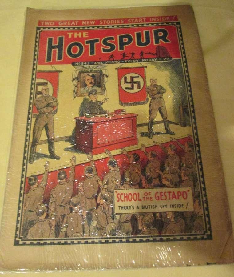 A WWII HOTSPUR APRIL 6TH 1940 BOYS COMIC