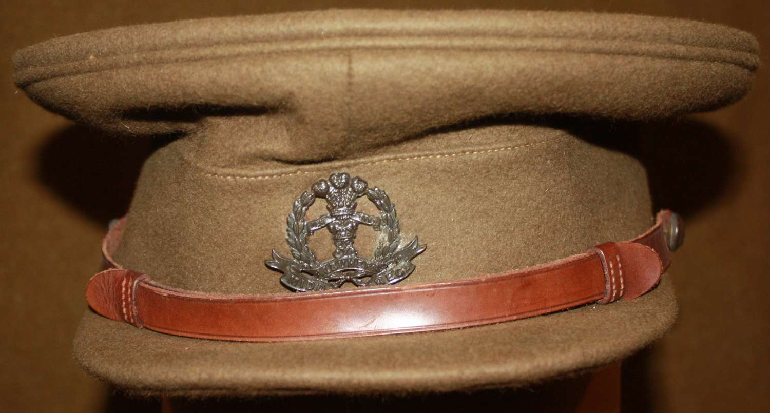 A VERY NICE INTER WAR MID 1930'S MIDDLESEX OFFICERS CAP LARGE SIZE