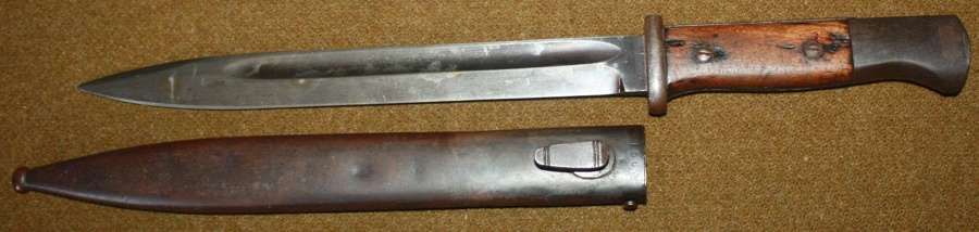A PRE WWII GERMAN K98 BAYONET SCABARD IS 1937 DATED