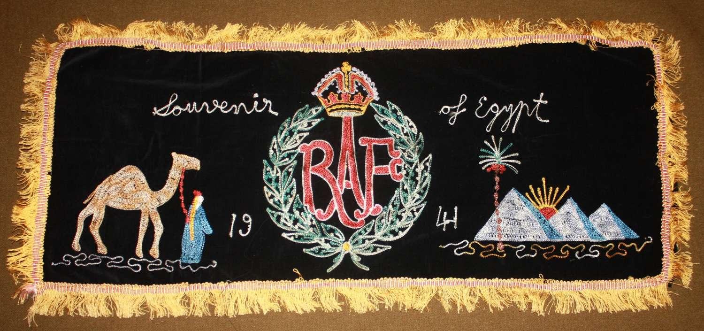 A 1941 RAF SIDE UNIT SILK DISPLAY ITEM