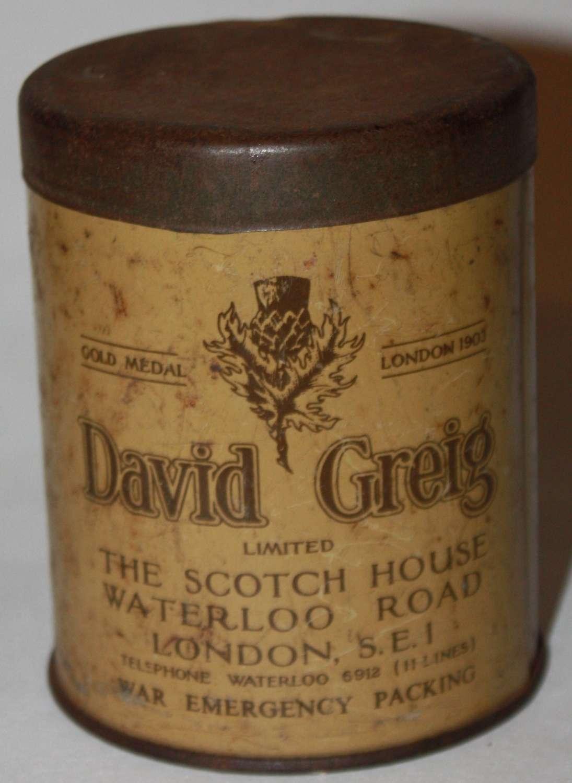 A GOOD WWII COFFEE TIN