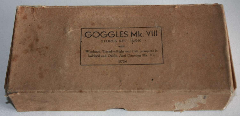 A RAF MKVIII GOGGLES BOX AND BITS