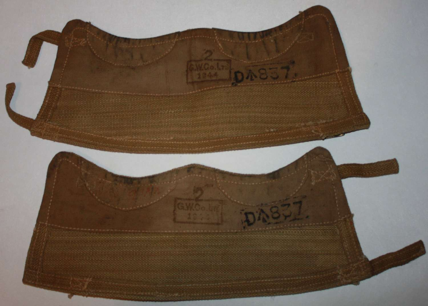 A GOON NEAR MINT PAIR OF WEBBING 1944 DATED GATTERS