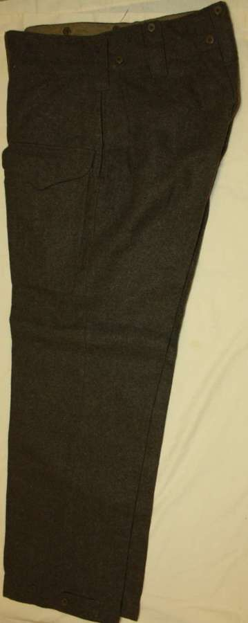 A VERY GOOD PAIR OF CANADIAN 1945 DATED BD TROUSERS