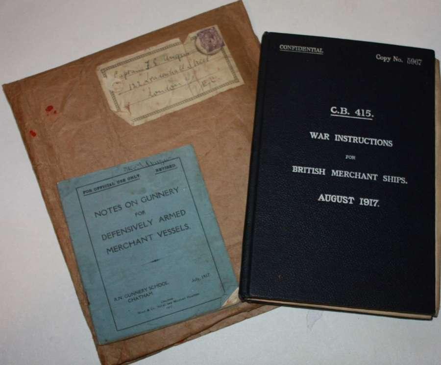 A  RARE AUGUST 1917 WAR INSTRUCTIONS FOR MERCHANT SHIPS C.B.415