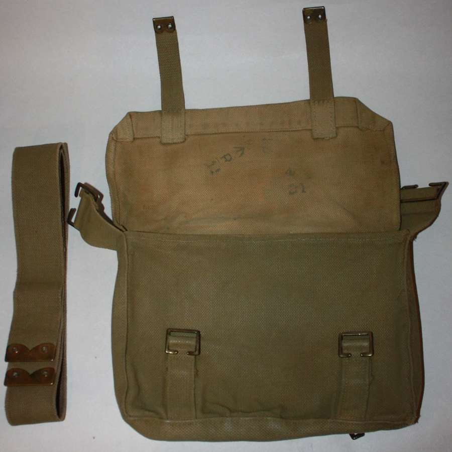 A WWI 08 PATTERN WEBBING SMALL PACK REFURED IN OR ARFTER 1925