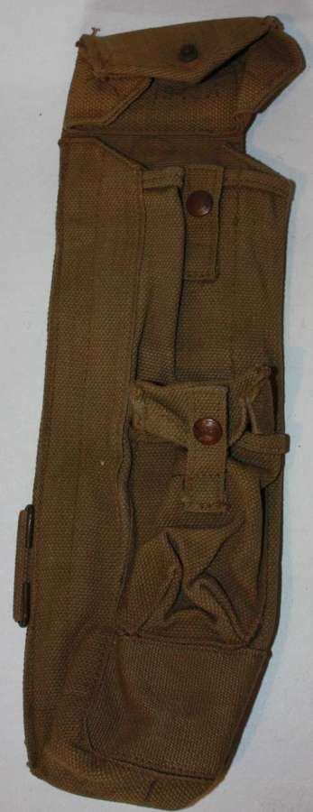 A GOOD NEAR MINT 1943 DATED LANCHESTER AMMO POUCH