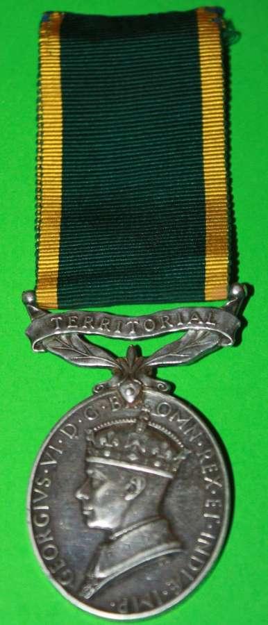 A WWII ( GVIR IND IMP ) TEM TO 4436335 PTE J HALL KINGS OWN ROYAL REGT