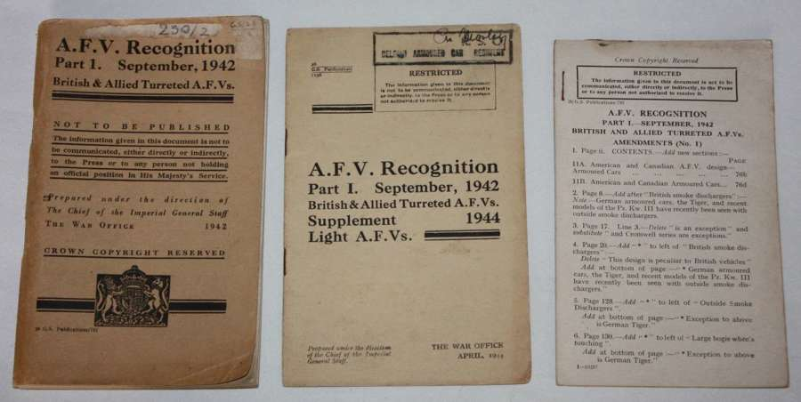 A GROUP OF 3 ARMOURED FIGHTING RECOGNINTION BOOKLETS