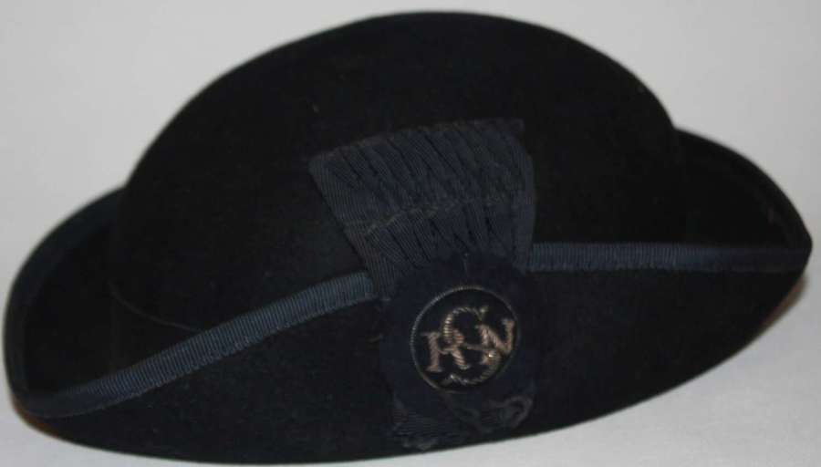 A WWII PERIOD STATE REGISTERED NURSE'S TRICORN STYLE HAT