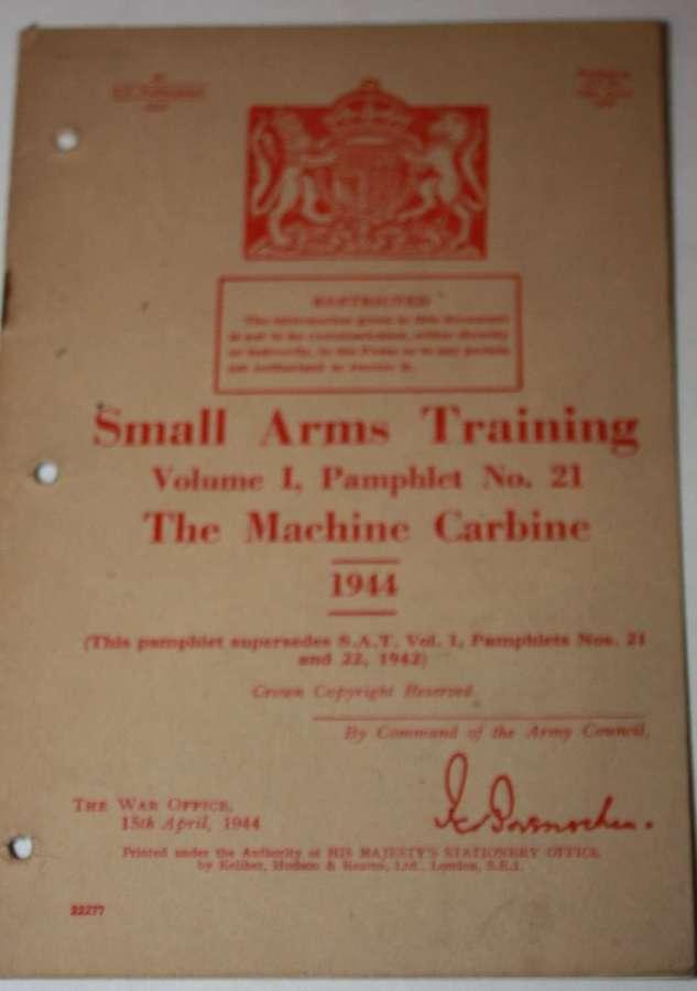 SMALL ARMS TRAING MANUAL NO 21