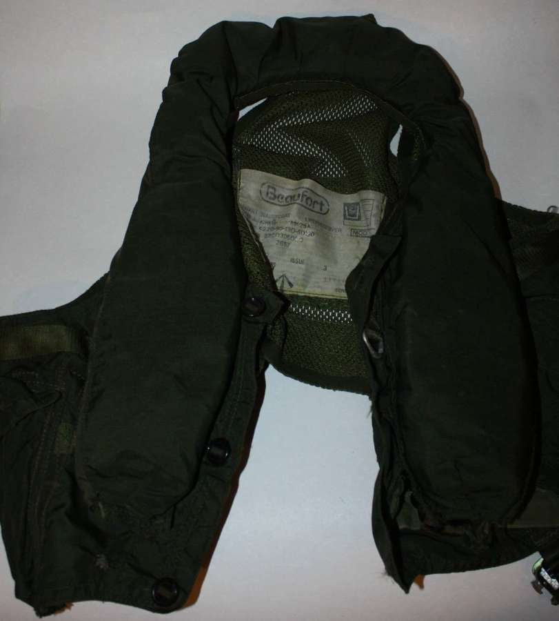 A BRITISH FORCES ISSUE BEAUFORT WAISTCOAT LIFE PRESERVER AIRCREW Mk25